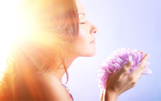 肌の透明感には光が重要
